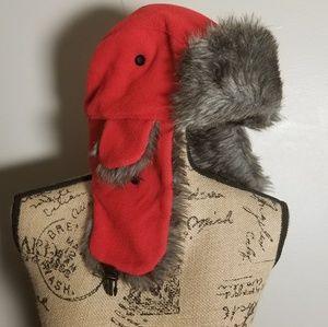 🧡Sale Item- Red Fleece Hat
